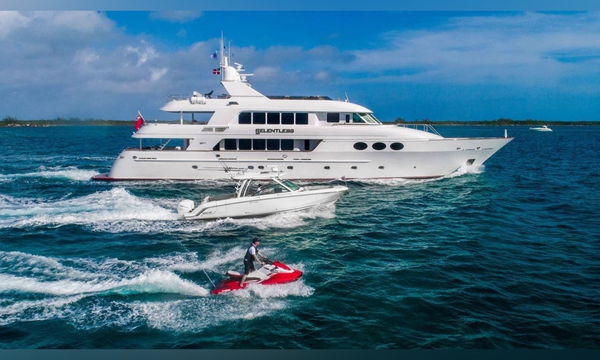 145′ Trinity Yachts Tri-Deck Motor Yacht RELENTLESS For Charter